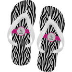 Zebra Flip Flops (Personalized)