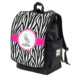Zebra Backpack w/ Front Flap  (Personalized)