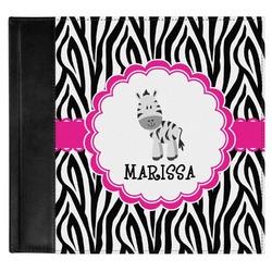 Zebra Genuine Leather Baby Memory Book (Personalized)