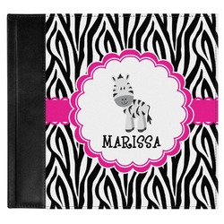 Zebra Genuine Leather Baby Memory Book (Personalized)