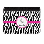Zebra Genuine Leather Front Pocket Wallet (Personalized)