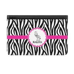 Zebra Genuine Leather ID & Card Wallet - Slim Style (Personalized)