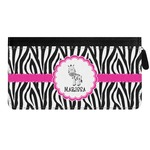 Zebra Genuine Leather Ladies Zippered Wallet (Personalized)