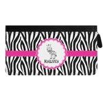 Zebra Genuine Leather Ladies Zippered Wallet (Personalized)