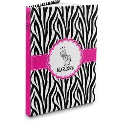 Zebra Hardbound Journal (Personalized)