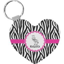 Zebra Heart Keychain (Personalized)