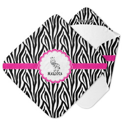Zebra Hooded Baby Towel (Personalized)