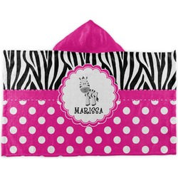 Zebra Kids Hooded Towel (Personalized)