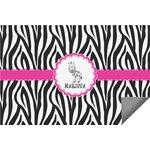 Zebra Indoor / Outdoor Rug (Personalized)
