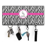 Zebra Key Hanger w/ 4 Hooks w/ Graphics and Text