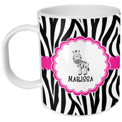 Zebra Plastic Kids Mug (Personalized)