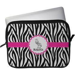"Zebra Laptop Sleeve / Case - 15"" (Personalized)"