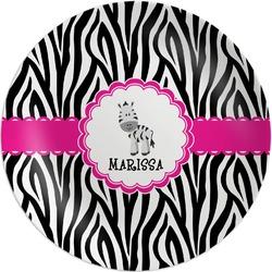 Zebra Melamine Plate (Personalized)