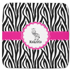 "Zebra Memory Foam Bath Mat - 48""x48"" (Personalized)"