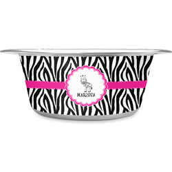 Zebra Stainless Steel Pet Bowl (Personalized)