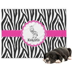 Zebra Minky Dog Blanket (Personalized)