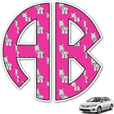 Zebra Monogram Car Decal (Personalized)