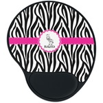 Zebra Mouse Pad with Wrist Support