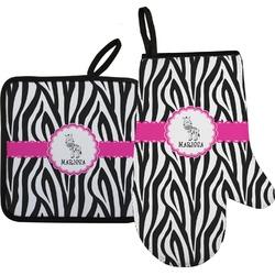 Zebra Oven Mitt & Pot Holder (Personalized)
