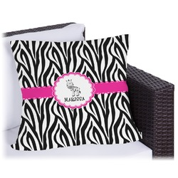 Zebra Outdoor Pillow (Personalized)