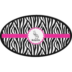 Zebra Oval Trailer Hitch Cover (Personalized)
