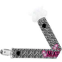 Zebra Pacifier Clips (Personalized)