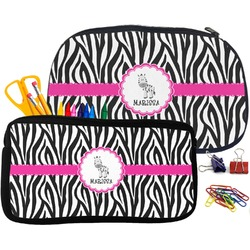 Zebra Pencil / School Supplies Bag (Personalized)
