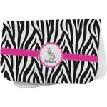Zebra Burp Cloth (Personalized)