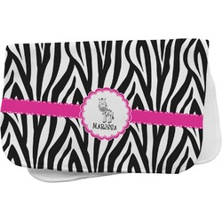 Zebra Burp Cloth (Personalized)