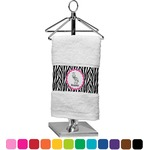 Zebra Finger Tip Towel (Personalized)