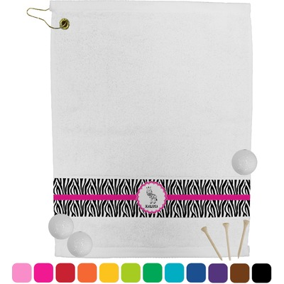 Zebra Golf Towel (Personalized)