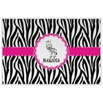 Zebra Laminated Placemat w/ Name or Text