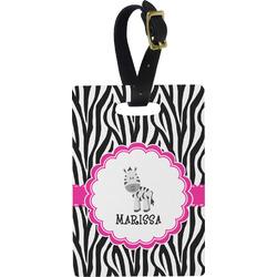 Zebra Rectangular Luggage Tag (Personalized)