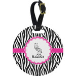 Zebra Round Luggage Tag (Personalized)