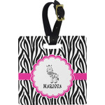 Zebra Square Luggage Tag (Personalized)
