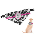 Zebra Dog Bandana (Personalized)