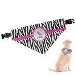 Zebra Dog Bandana (Personalized)