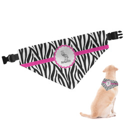 Zebra Dog Bandana - Large (Personalized)
