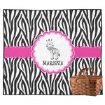 Zebra Outdoor Picnic Blanket (Personalized)