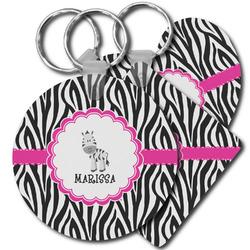 Zebra Plastic Keychains (Personalized)