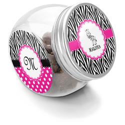 Zebra Puppy Treat Jar (Personalized)