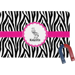Zebra Rectangular Fridge Magnet (Personalized)