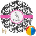 Zebra Round Beach Towel (Personalized)