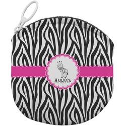 Zebra Round Coin Purse (Personalized)