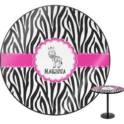 Zebra Round Table (Personalized)