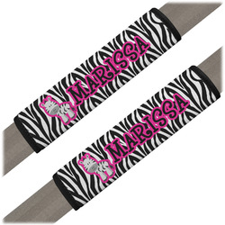 Zebra Seat Belt Covers (Set of 2) (Personalized)