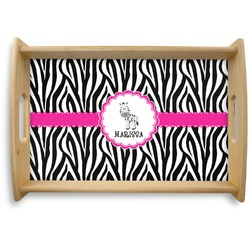 Zebra Natural Wooden Tray (Personalized)