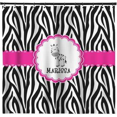 Zebra Shower Curtain (Personalized)