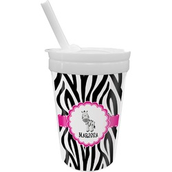 Zebra Sippy Cup with Straw (Personalized)