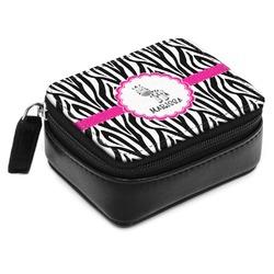 Zebra Small Leatherette Travel Pill Case (Personalized)